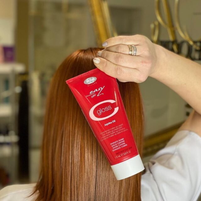 Condition, color and restructure all in one application!  C-Gloss: Conditioning Color Enhancer 🔺Protects and prolongs the luster and intensity of color. Used on natural hair, provides shine and soft tones. Covers 20-30% grey, conditions, colors and also restructures hair all in one application. Jojoba Oil, Vitamin A and Vitamin B keep hair looking healthy, fresh, moisturized and gives hair environmental protection.  Available Colors: Golden Copper, Fire Red, Red Copper, Violet Red, Silver, Marron Glace, Black, Anthracite, Intense Chestnut, Hazelnut  📸: @peoples_beauty_salon