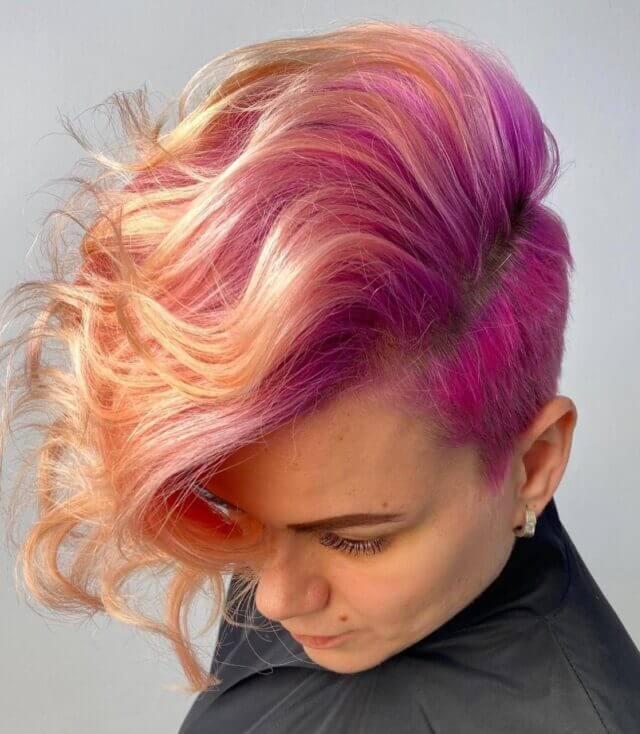 Tangerine Sunset 🍊 🌅   Color: Lisaplex Xtreme Color Lisaplex Pastel Color  Hair by @levina_brand | @lisap_russia
